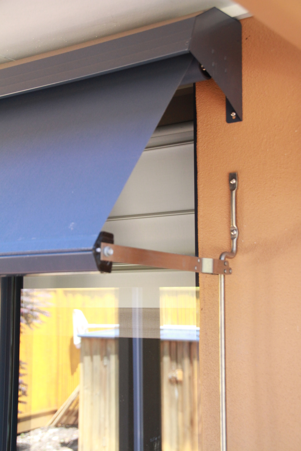 Automatic Lock Arm Awnings Home Point Coolum Blinds